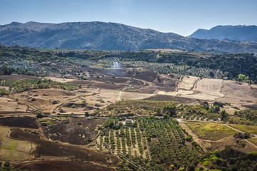 beautiful view in Spain near Ronda