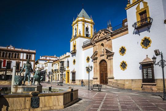 The plaza del Socorro, Ronda, Spain