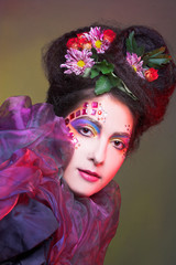 Foto op Canvas Schilderkunstige Inspiratie Mermaid.