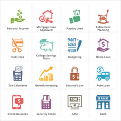 Personal & Business Finance Icons - Set 2