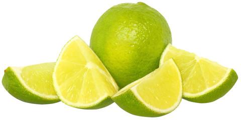 Fresh slice lime close up