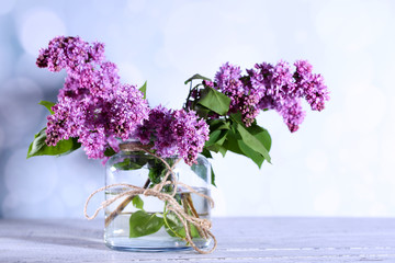 Wall Murals Lilac Beautiful lilac flowers in vase,