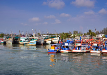 Docking Boats at Phuket, Thailand