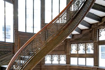 Spiral staircase, Chicago, Cook County, Illinois, USA