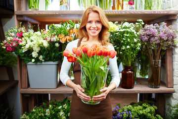 Selling tulips