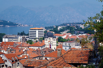 View of the Kotor and Kotor Bay, Montenegro