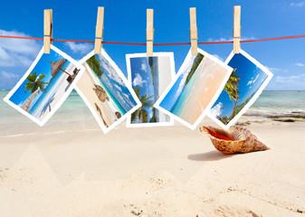 photos sur plage des Seychelles