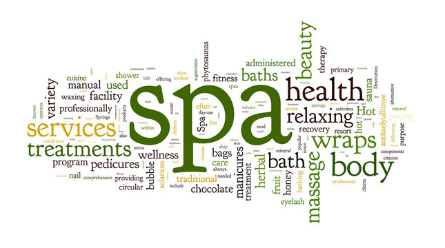 Spa word cloud  illustration