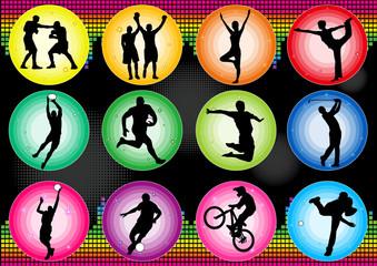 sport basketball soccer baseball yoga icon