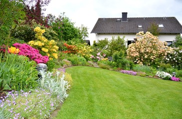 wonderful garden in spring