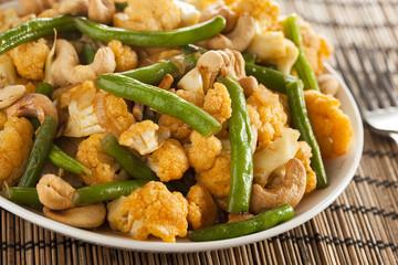 Spicy Thai Cauliflower and Beans
