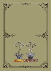 Floral mosaic illustration