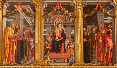 Verona - Madonna and saints in basilica di San Zeno Wall mural