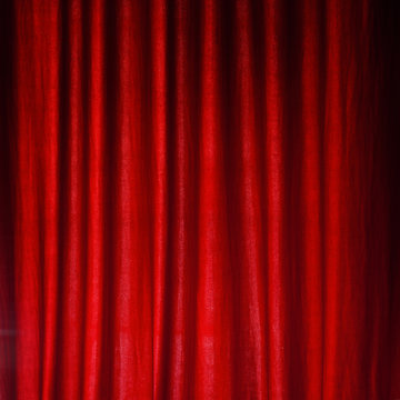 Red felt curtain