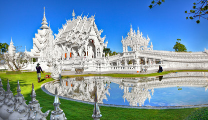 Recess Fitting Temple Wat Rong Khun - White Temple - Chiang Rai, Thailand