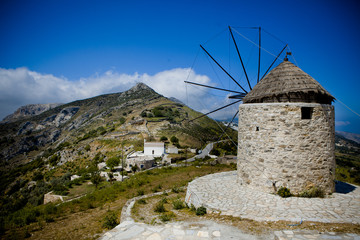 Vintage Windmill - Naxos, Greece