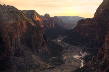 Printed roller blinds Canyon View of Zion Canyon National Park from Angel's Landing Trail