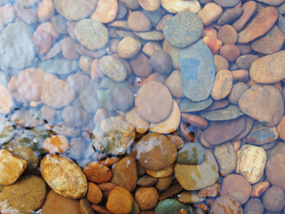 abstract background with round sea stones