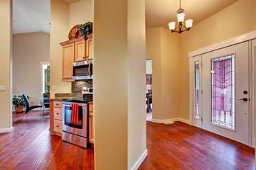 House interior. Open floor plan