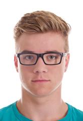 Teenager mit Brille Portrait