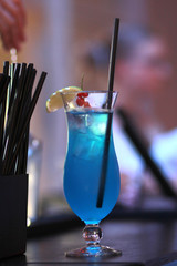 blue  alcohol cocktail drink