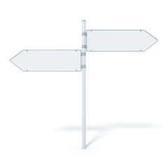 road sign 2 arrows