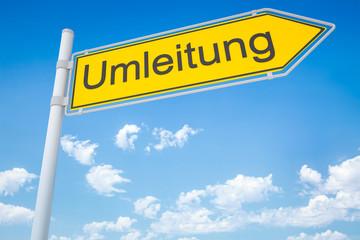 german road sign