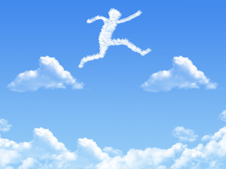 Cloud shaped as  jump