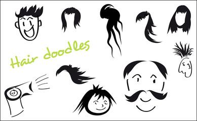 Hair doodles