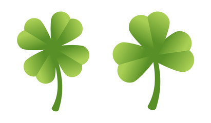 Set of two isolated clovers