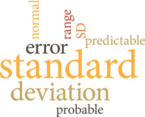 Illustration of the word standard deviation in word clouds