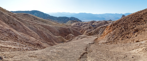 Rock formations at landscape, Death Valley National Park, Califo