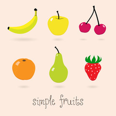 Set of Simple Vector Fruits