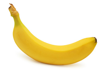 Banana isolated over white background