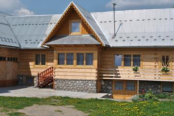 Fototapeta Góralski dom obraz