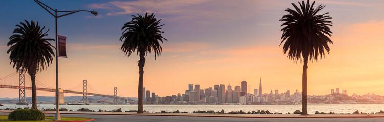 Fotomurales - San Francisco and Bay Bridge taken from Treasure Island.