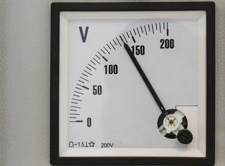 Analog volt meter for measurement