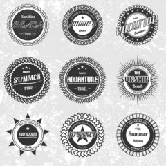 Vector of retro vintage Summer vacation badges emblems set