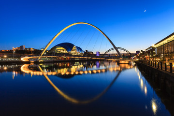 Wall Murals Bridge Gateshead Moonlit Evening