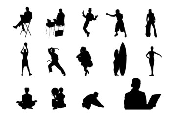 People Vector Silhouette - 04