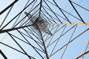 electrical tower seen from a different angle