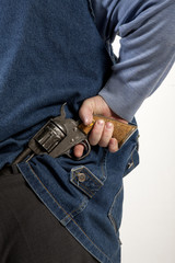 Hiding gun