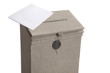Letter on the mailbox