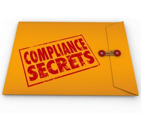 Fototapete - Compliance Secrets Advice Following Rules Yellow Envelope