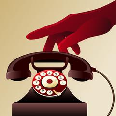Retro telephon