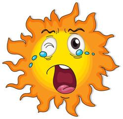 A crying sun