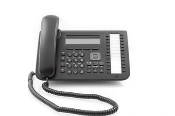 schwarzer Telefonapparat