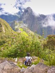 Girl in the highs of Machu Pichu