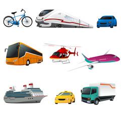 Public transportation icons