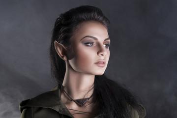 beautiful elf in a cape